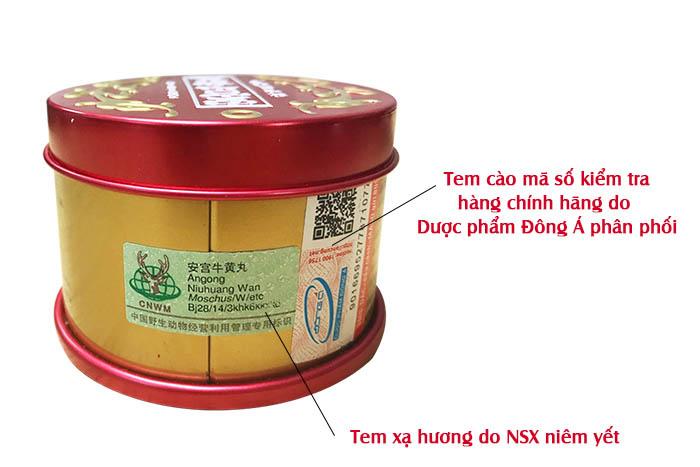 cách kiểm tra acn hoàng hoàn đồng nhân đường 1 viên hộp tròn A038